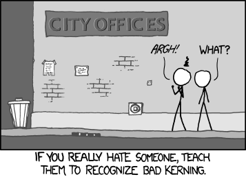 xkcd Kerning strip